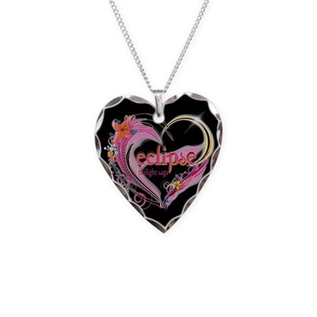 Twilight Eclipse Heart Necklace Heart Charm