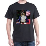 Patriotic Black Tri Aussie T-Shirt