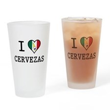 I Love Cervezas Pint Glass