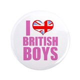 "i heart british boys (pink) 3.5"" Button (100 pack)"