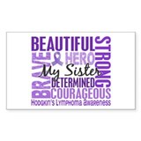 I Wear Violet 46 Hodgkin's Lymphoma Bumper Stickers