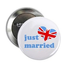 """just married (his, union jack 2.25"""" Button"""