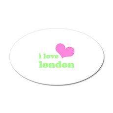 i love london (pink/green) 38.5 x 24.5 Oval Wall P