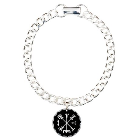 Viking Compass Charm Bracelet, One Charm