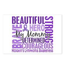 I Wear Violet 46 Hodgkin's Lymphoma Postcards (Pac