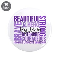 "I Wear Violet 46 Hodgkin's Lymphoma 3.5"" Button (1"