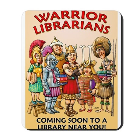 Warrior Librarian Mousepad