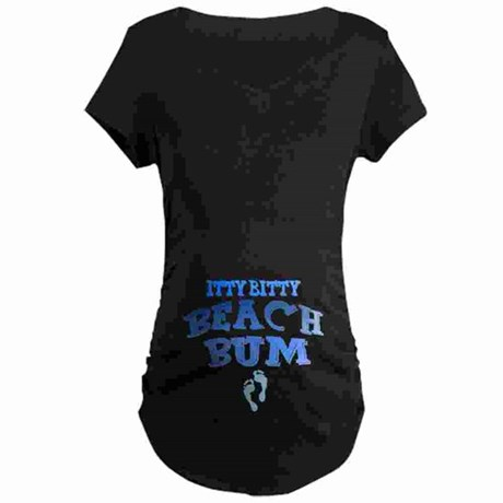 Itty Bitty Beach Bum Maternity Shirt