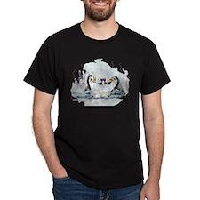 hOt tUb pEnGuInS Black T-Shirt
