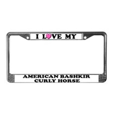 American Bashkir Curly Horse License Frame