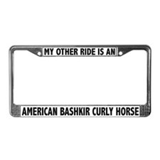 My Other Ride Is A Bashkir Horse License Frame