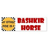 My Other Ride Is A Bashkir Horse Bumper Bumper Sticker