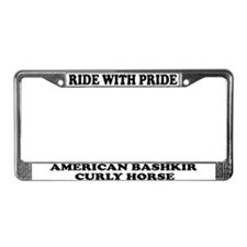 Ride With Pride Bashkir Curly License Plate Frame