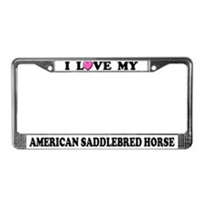 I Love My American Saddlebred Horse License Plate