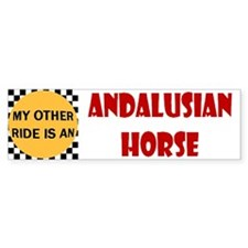 My Other Ride Is Andalusian Horse Bumper Sticke
