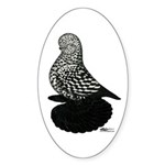 Splash Tumbler Pigeon Sticker (Oval 10 pk)