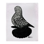 Splash Tumbler Pigeon Throw Blanket