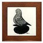 Splash Tumbler Pigeon Framed Tile