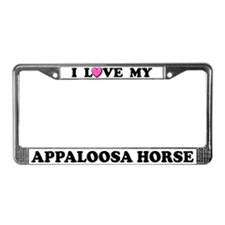 I Love My Appaloosa Horse License Plate Frame