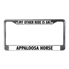 My Other Ride Is An Appaloosa License Plate Frame