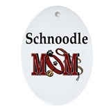Schnoodle Mom Oval Ornament