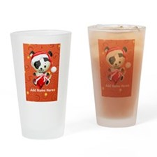 Christmas Santa Dog Pint Glass