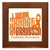 I Wear Orange 6.4 Leukemia Framed Tile