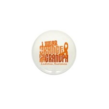 I Wear Orange 6.4 Leukemia Mini Button (100 pack)