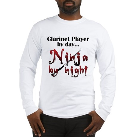 Clarinet Ninja Long Sleeve T-Shirt