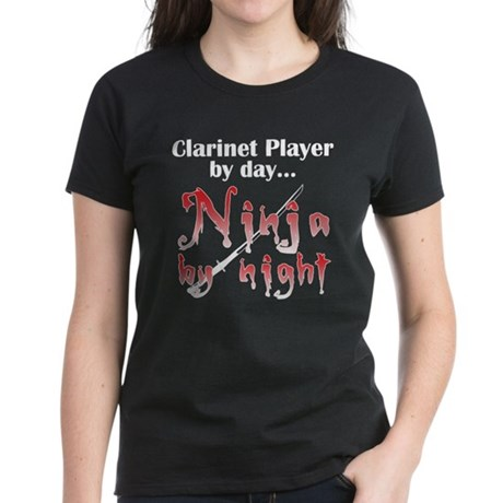 Clarinet Ninja Women's Dark T-Shirt