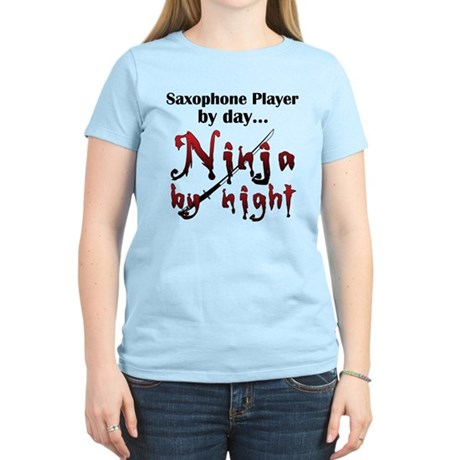 Saxophone Ninja Women's Light T-Shirt