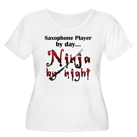 Saxophone Ninja Women's Plus Size Scoop Neck T-Shi