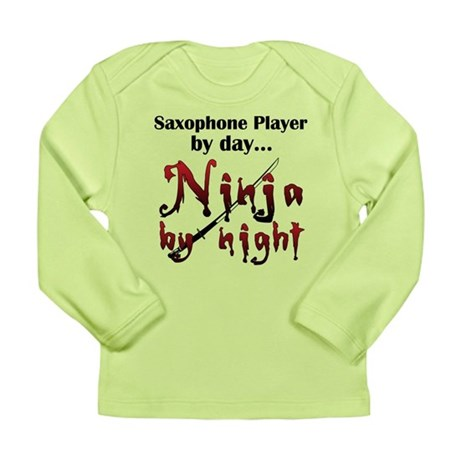 Saxophone Ninja Long Sleeve Infant T-Shirt