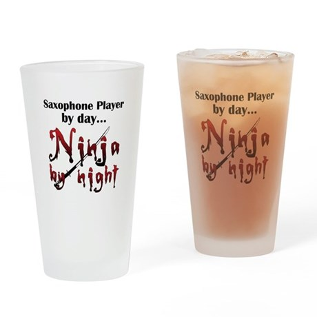 Saxophone Ninja Pint Glass