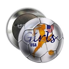 "US Girls Soccer Ball 2.25"" Button"