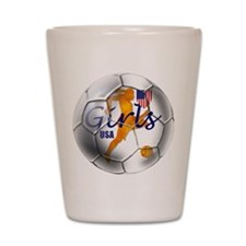 US Girls Soccer Ball Shot Glass
