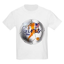 US Girls Soccer Ball T-Shirt