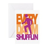 Everyday I'm Shufflin OPP Greeting Cards (Pk of 20