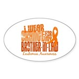 I Wear Orange 6.4 Leukemia Decal