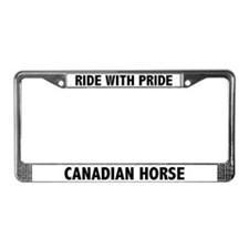 Ride With Pride Canadian Horse License Plate Frame