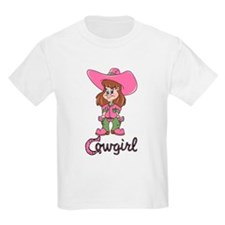 Cute Cowgirl Kids T-Shirt