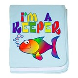 I'm a Keeper Fish baby blanket