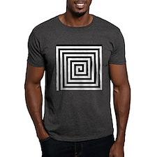 Squared Spiral Symbol T-Shirt