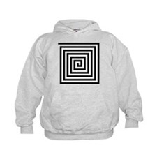 Squared Spiral Symbol Hoodie