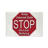 Stop On-line Bullying Rectangle Magnet (100 pack)
