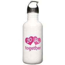 20th Anniversary Hearts Water Bottle