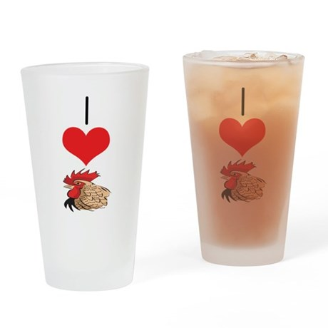 Chicken/Rooster Pint Glass