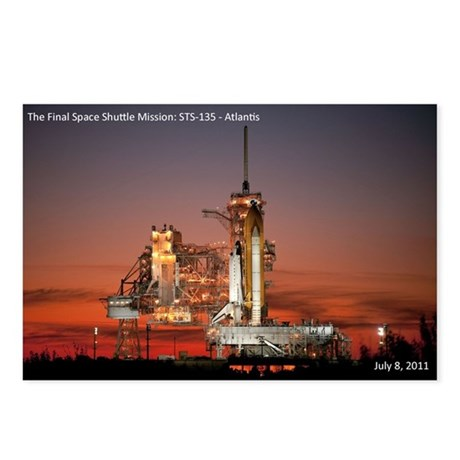 The Final Flight: STS-135 Postcards (Package of 8)