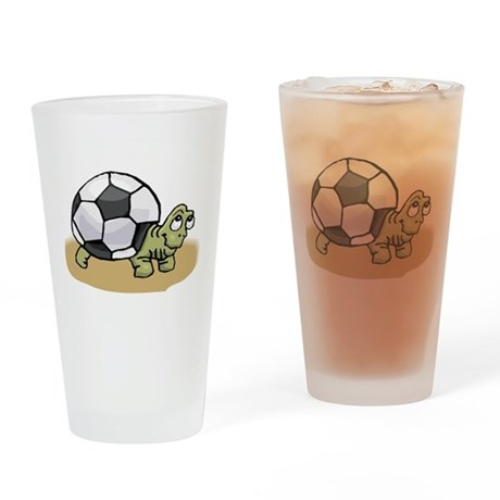 SOCCER TURTLE Pint Glass