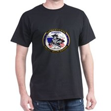 NEBRASKA Minuteman Border Pat Black T-Shirt